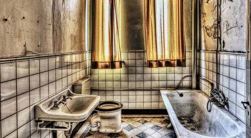 This place in the bathroom is even dirtier than the toilet!